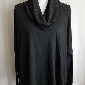 Central Park West Grey Cowl Neck Sweater